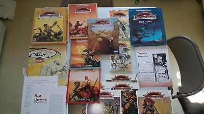 AD&D Dark Sun lot: Dragons Crown, Black Flames, Will and the Way complete unused