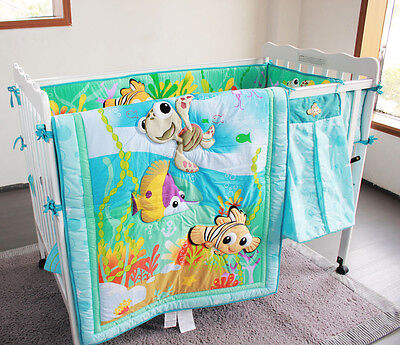Disney Baby Nemo 8 Piece Cotton Nursery Bedding Set Baby Boys Cot Set