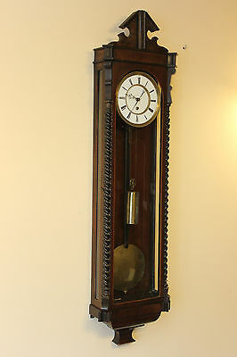 One weight MONTH 35 DAY wall clock 1850-60  WARRANTY