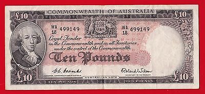 Nd 1954-59 Commonwealth Of Australia 10 Pounds.
