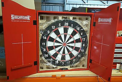 Special Edition Sidchrome Tools dart board and cabinet. Brand New! Free shipping