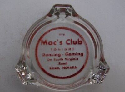 "IT""S  Mac""s Club,  Reno Nevada.   casino ashtray."