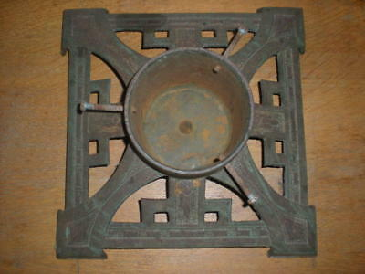 Christmas Tree Stand Cast Iron Art Deco Pattern Vintage Very Heavy