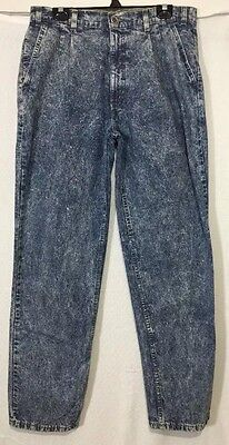 Levi's Silver Tab Pleated Front Acid Wash Jeans Sz 34x32 Taper Mens VTG 80's