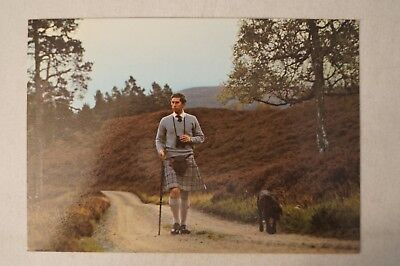 H.R.H. Prince Charles at Balmoral - Collectable - Vintage Postcard