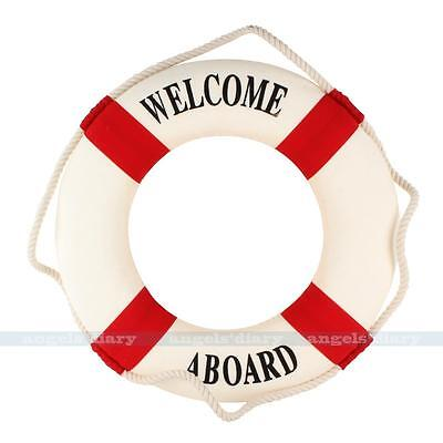 Nautical Decor Welcome Lifering Lifebuoy Party Room Wall Hanging Decor Red 30CM