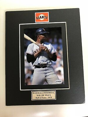 Willie Mays  Autographed  5x7 Photo In A 8x10 Matt.....Certified