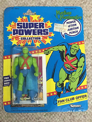 Superpowers Martian Manhunter Action Figure 1985 Kenner MOC Mint on Card NEW
