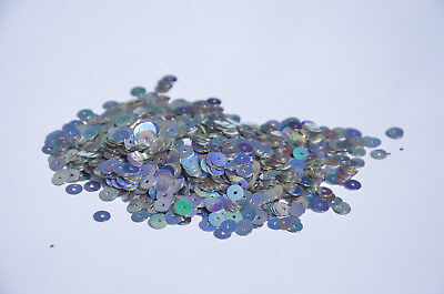 SILVER SEQUINS 5mm PVC 10gram / 0.35oz BAG (approx 1400pcs) Sewing Craft