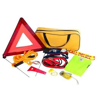 Car Emergency Kit Warning Triangle Tow Rope Jump Leads Torch 933429