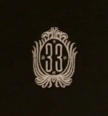 Disneyland Club 33 Black Knit SCARF Old Logo