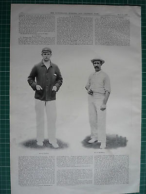 "Victorian Cricket Prints. "" Australia V South Of England."" 1899."