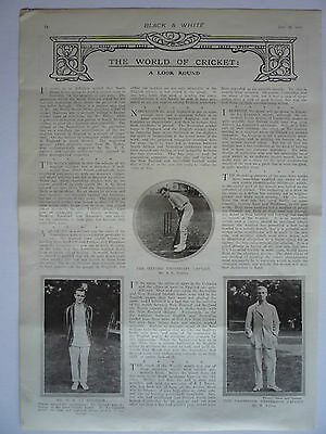 """ The World Of Cricket "" 1910. Very Rare"