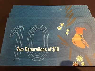 2017 RBA $10 Two Generations Note folder - First AA15 & First AA17 Notes RARE!