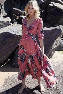 NEW JAASE Harper - Rose Dreams Maxi Dress Salty Crush, Women Boho clothes, Wo...