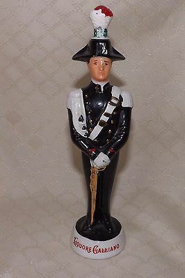 """Vintage Galliano Liquor Bottle - Soldier with Sword -Import 8 1/2"""" tall- empty"""