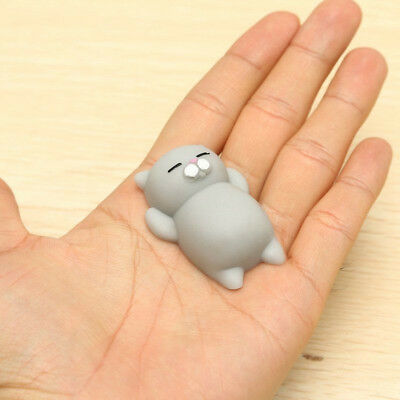 1Pc Grey Color Cat Shape Squishy Squeezable Stress Relievers 6.5*4*2cm Kid Toy