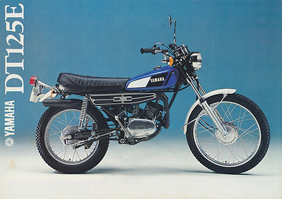 YAMAHA DT 125 E 1979 PARTS LIST MANUAL CATALOGUE paper bound copy 1GO