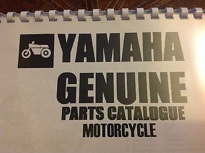 YAMAHA 1976 RD 125 C PARTS LIST MANUAL CATALOGUE paper bound copy
