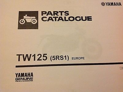 YAMAHA TW 125 PARTS LIST MANUAL CATALOGUE paper bound copy 1999 200 0 1 2 3 2004