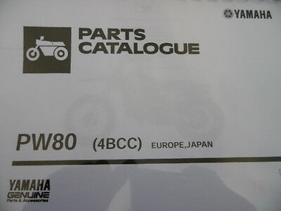 YAMAHA PW 80 4BCC PARTS LIST MANUAL CATALOGUE 2A4BC-300E1 paper bound copy