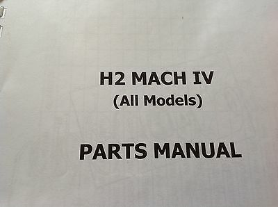 KAWASAKI H2 A B C parts catalogue KH 750 covers all H2 models