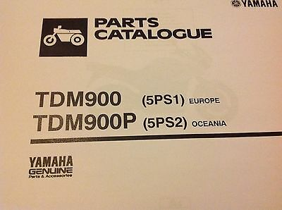 YAMAHA TDM 900 & 900P PARTS LIST MANUAL CATALOGUE paper bound copy 5PS1 & 5PS2