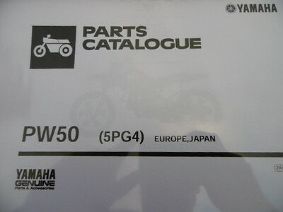 YAMAHA PW 50 5PG4 PARTS LIST MANUAL CATALOGUE 2A5PG-300E1 paper bound copy
