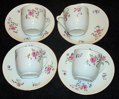 Pink Rose 4 Xcups ,3 Coffee Cups  & Matching Saucer ...shabby Chic, For Lawleys
