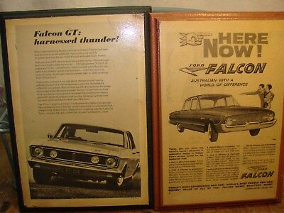 2 Genuine Ford Adverts Falcon Gt And Xp