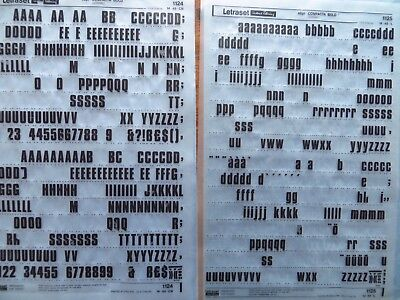 2 sheets letraset rub on transfers compacta bold 48pt part used