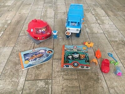 Octonauts Toy Bundle - Two Battery Operated Toys, Figures and Books - Gupex Gupi