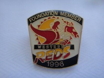 1996 Western Reds Foundation Member Rugby League Badge