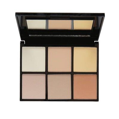 MUA Luxe radiant illumination highlight kit, contains 6 shades shimmer & matte