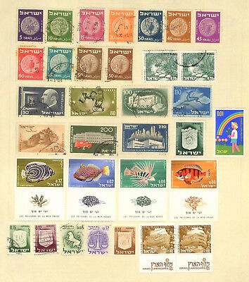 Page of mint & used stamps from Israel