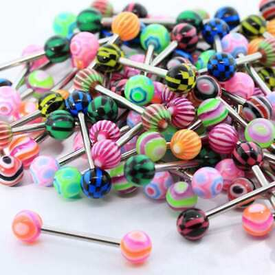 Women Body Piercing Eyebrow, Belly, Tongue Bar Ring 10Pcs