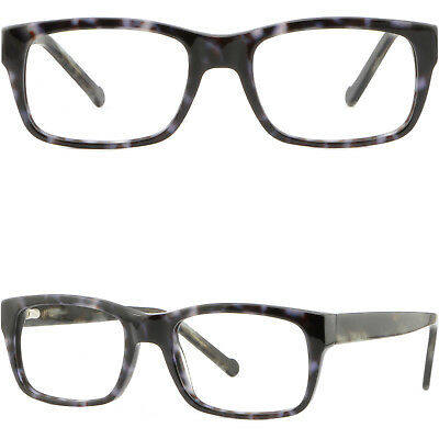 6a79f6b6059d Rectangle Mens Women Frames Strong Prescription Glasses Spring Hinges Black  Gray
