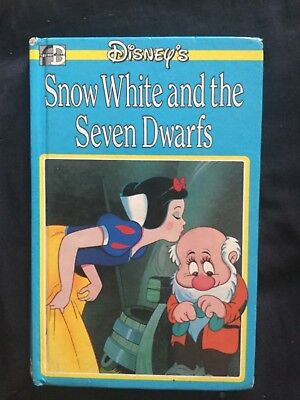 Disney's Snow White and the seven dwarfs book. Fleetway books. 1980's. Exc cond