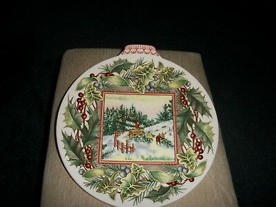Spode Victorian christmas plate collection Third issue