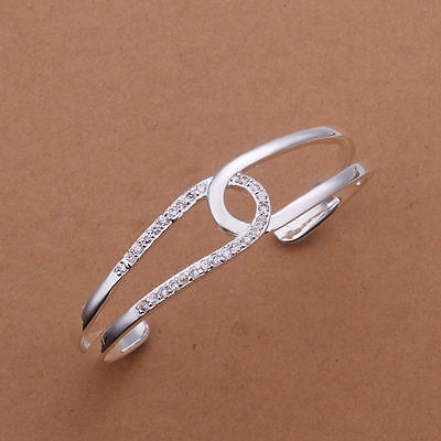 Fashion New Solid 925 Sterling Silver Jewellery Distorte Bracelet Bangle Gift