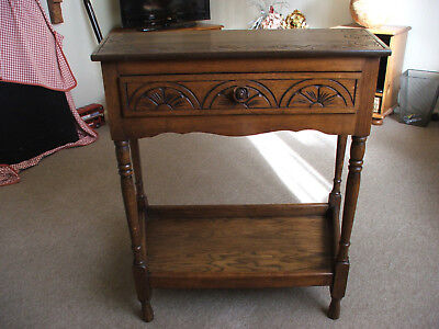 Reproduction Credence Table with drawer and lower shelf -Surrey KT9