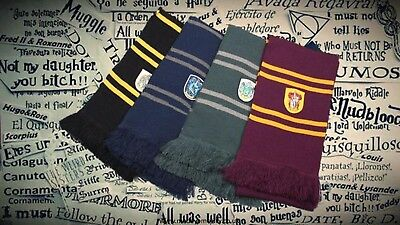Harry Potter Gryffindor Ravenclaw Slytherin Hufflepuff Winter Scarf