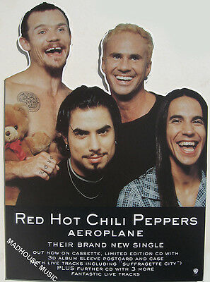 """RED HOT CHILI PEPPERS DISPLAY Stand UK Promo Only COUNTERSTAND Rare MINT 16"""""""