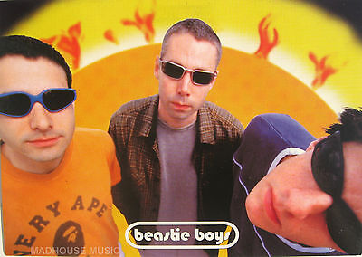BEASTIE BOYS Postcard 1998 UK Official 'Shades' Pic PYRAMID Posters Retail Mint
