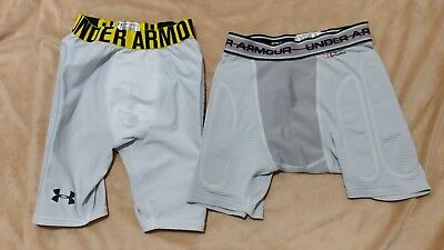 Lot Of 2 Compression Shorts Under Armour Youth Large Mpz