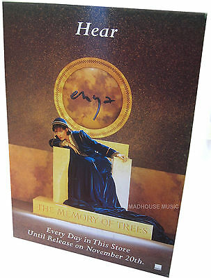 ENYA POSTER DISPLAY The Memory Of Trees UK PROMO ONLY Rare 'In-Store' Only  MINT