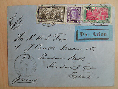airmail cover monaco to london 1936