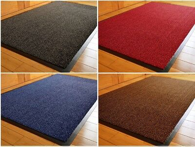 Rubber Back Mat Long Narrow Barrier Entrance Door Rug Dirt Catcher Rust Stopper