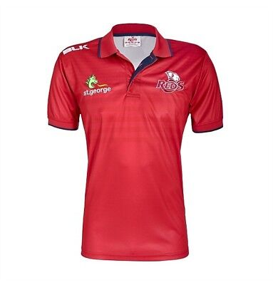 Queensland Reds 2017 Mens Media Polo Shirt BNWT Rugby Union Clothing