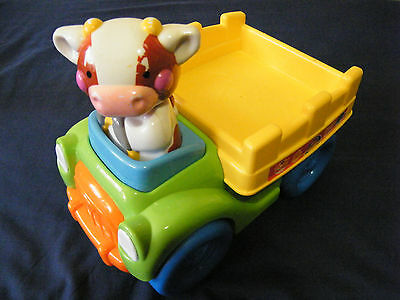 * Fisher-Price * COW TRUCK * Quality Musical activity baby toy L6358 toddler GUC